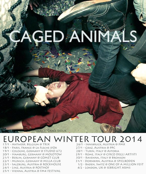 CAGED ANIMALS - EUROPE 2014 POSTER